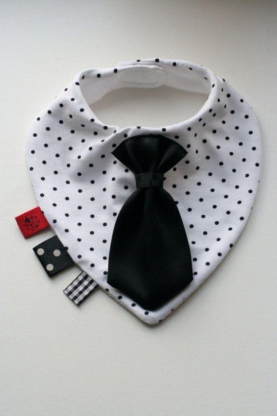 Baby dribbeln Lätzchen abnehmbare Krawatte / bow Tie von BizBizBaby