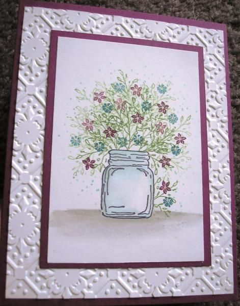 Bouquet in a Jar by Nan Cee's - Cards and Paper Crafts at Splitcoaststampers