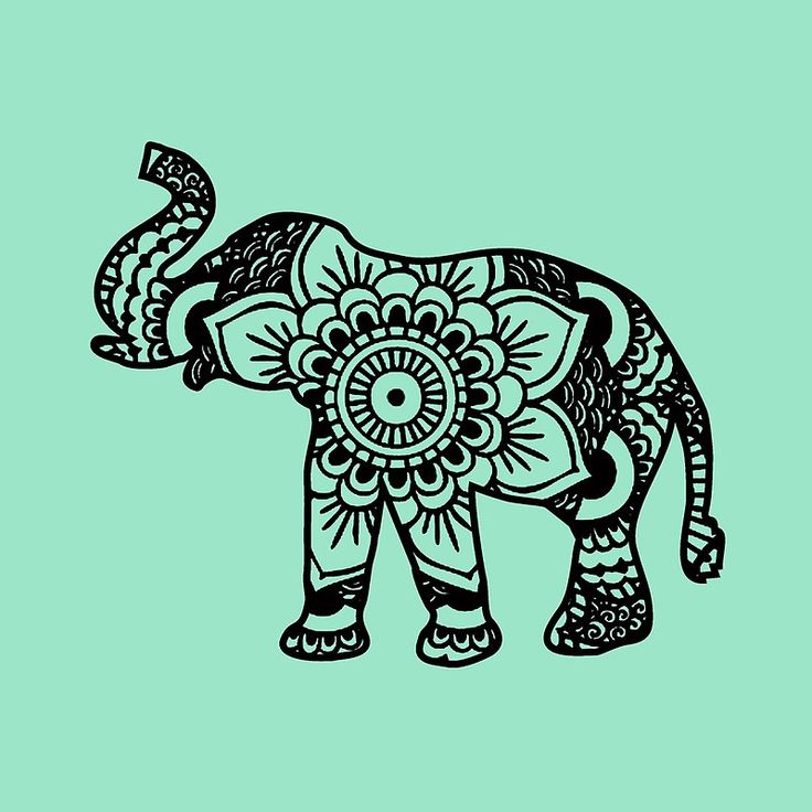 """Mandala Elephant Black"" Throw Pillows by laurauroraa 