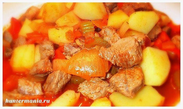 Свинина с картошкой тушеная в мультиварке (рецепт)