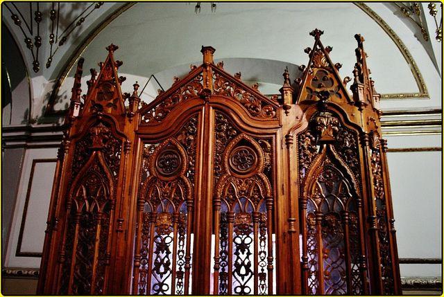 Interior, entrance to the main temple -- Templo de San Diego
