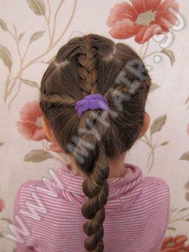 Фото и видео детских причесок из косичек для маленьких девочек