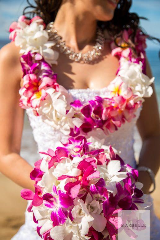 Букет невесты для свадьбы в гавайском стиле