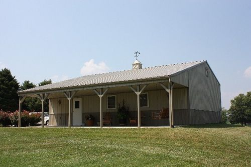 Gallery complete pole barn kits from the pole barn for Complete barn home kits