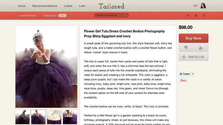Tailored is Pinterest for Wedding Shopping via Brit + Co.