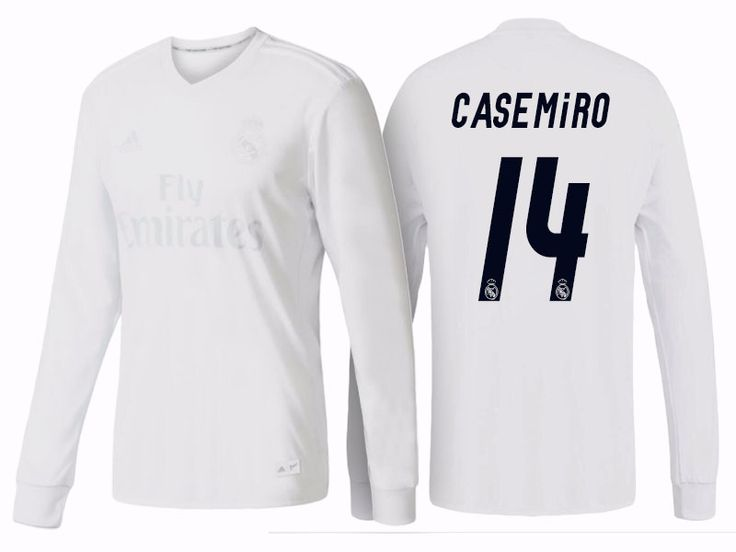 Real Madrid #14 Casemiro 2016-17 Parley LS Jersey
