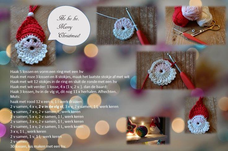 Sparkelz-Creatief: Kerstman hanger patroontje. Leuk om op een kerstkaart te doen.