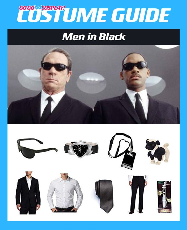 Men In Black Mib Costume Diy Cosplay W Suit Neuralyzer