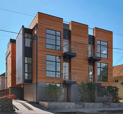 17 best images about duplex fourplex plans on pinterest for Modern townhouse architecture