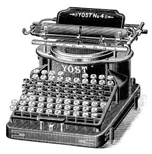 Antique Typewriter Black And White Clipart Old Magazine Ad