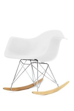 Plastic Molded Rocking Chair - White