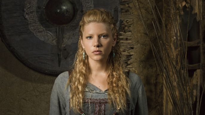 Lagertha - Played by Katheryn Winnick    Ragnar's devoted wife is a powerful and well-known shield-maiden who has often battled alongside her husband and fellow Viking fighters. Determined to help Ragnar succeed in his ambitions, she has earned her husband's respect and admiration, and the two share a great love story.