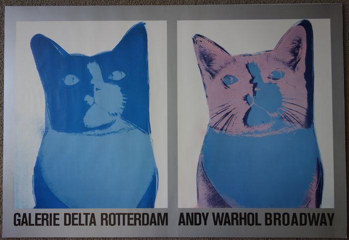 Andy Warhol (naar) - Broadway (blauwe katten) - Galerie Delta Rotterdam