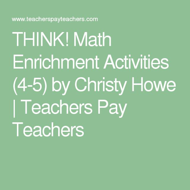 1000 ideas about math enrichment on pinterest olympiad. Black Bedroom Furniture Sets. Home Design Ideas