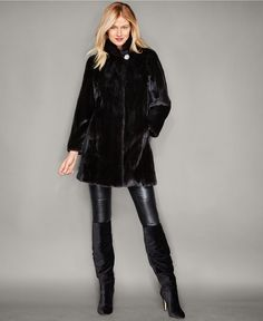 The Fur Vault Three-Quarter-Length Mink Fur Coat - The Fur Vault - Women - Macy's