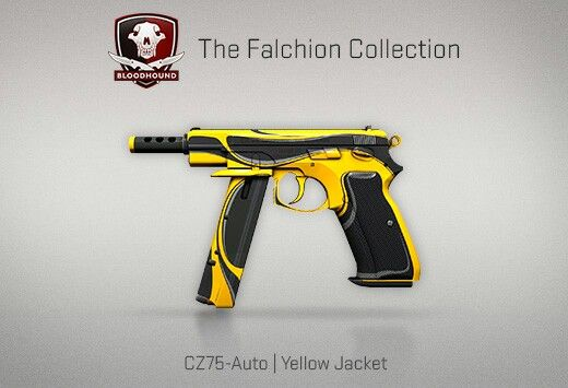 Counter-Strike Global Offensive: The Falchion Collection: CZ75-Auto Yellow Jacket