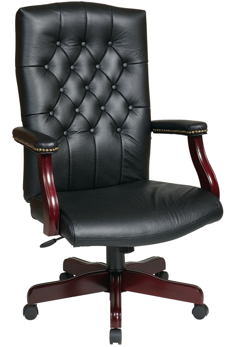 Traditional Black Leather