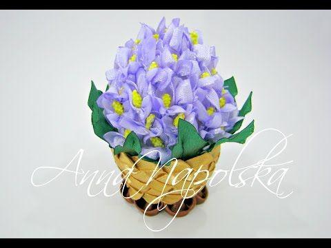 """Писанка """"Бузок"""" канзаши. Пасхальное яйцо """"Сирень"""" своими руками. Easter egg """"Lilac"""" kanzashi - YouTube"""