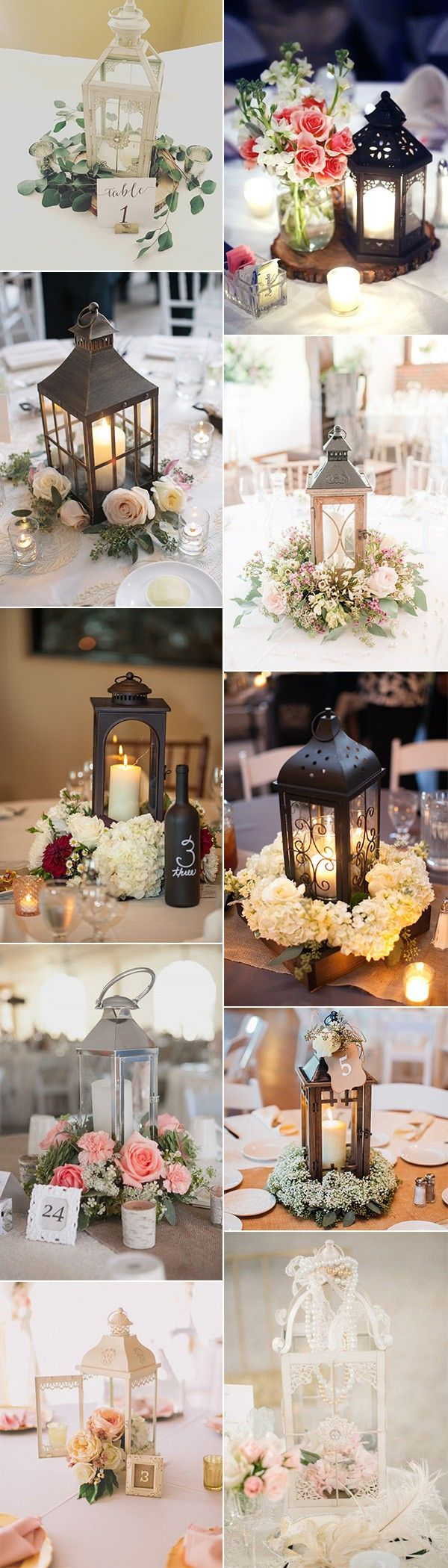 chic vintage wedding centerpiece ideas with lanterns