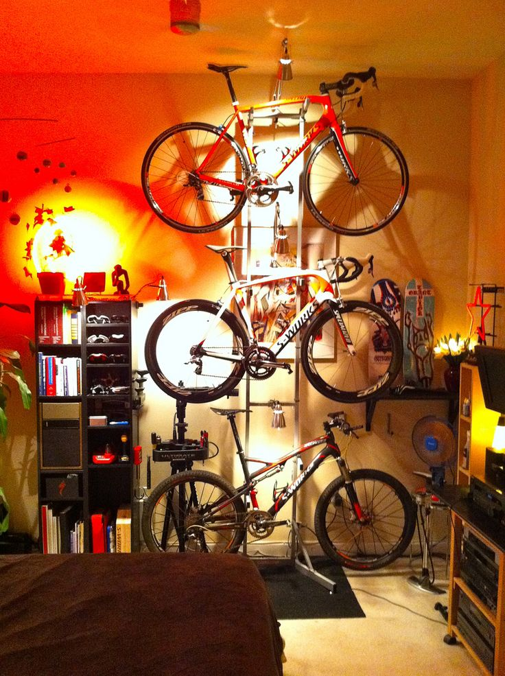 Similar to my set up but it's mountain bike, mountain bike and you guessed it mountain bike.