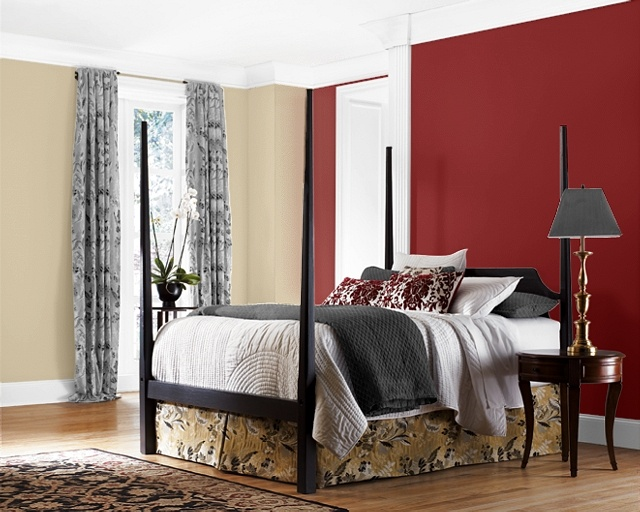 ivory paint used throughout whole hotel and burgundy. Black Bedroom Furniture Sets. Home Design Ideas