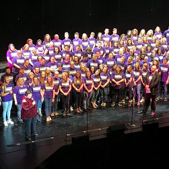 Congrats to the Viterbo University Platinum Edition Show Choir on entertaining audiences for 20 years! There were more than 70 alumni on stage with current members during their performance on Saturday. What an amazing group! We know you made director Nancy Allen proud! #viterbouniversity #showchoir #music #family #viterboalumni #viterboarts #seasonsoflove