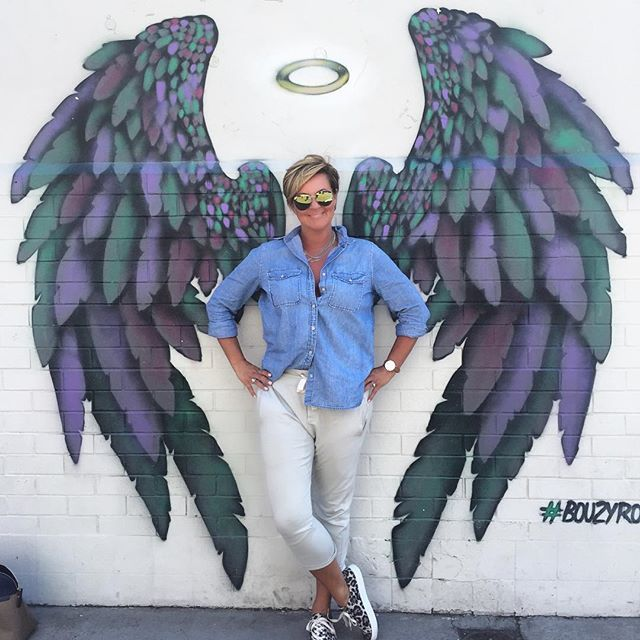 I'm feeling a little bit angelic this afternoon! Loving these wings on a wall in Richmond - v...