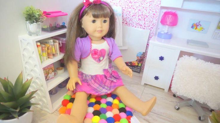 DIY Pom Pom Rug for American Girl Dolls