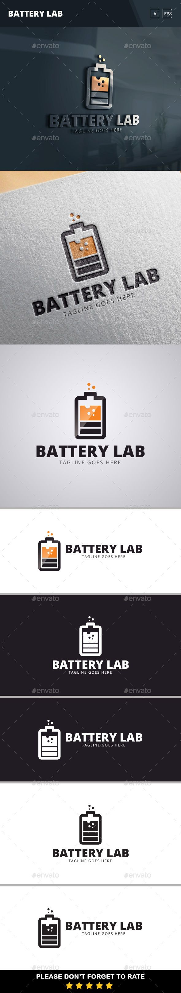 Battery Lab Logo Template More