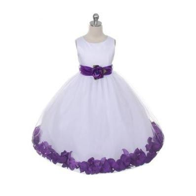 Ainsley White or Ivory  Dress w/ Purple Accent