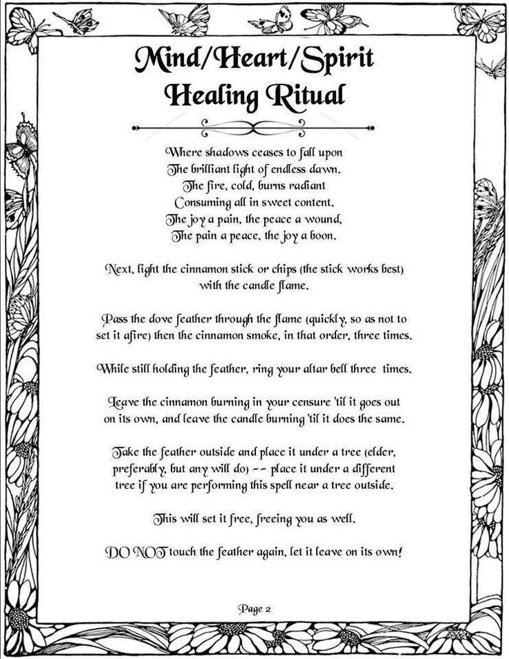 Healing Healing Magick Healing Spells Wicca