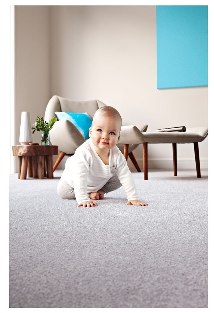 Your family will love Eco+ carpet | cleans with just cold water | pacific view colour silver haze carpet