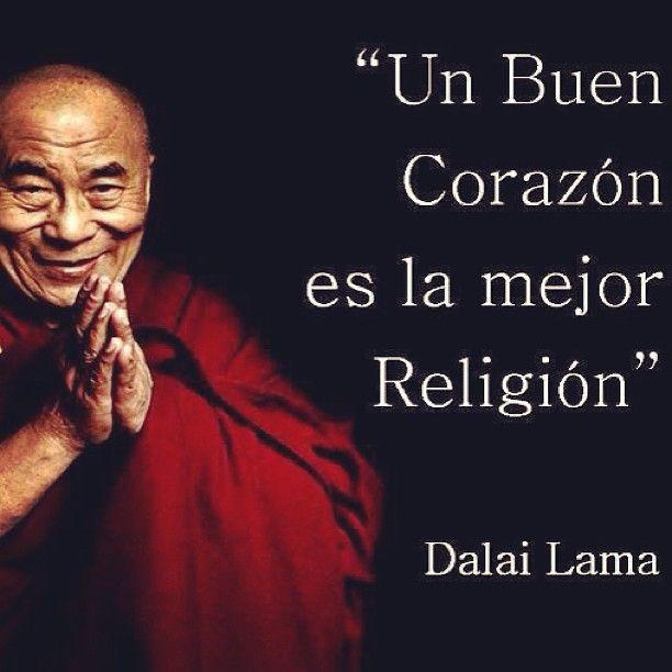 En ello reside la sabiduría religiosa..Ir por el camino del bien a través del corazón, lleno de AMOR