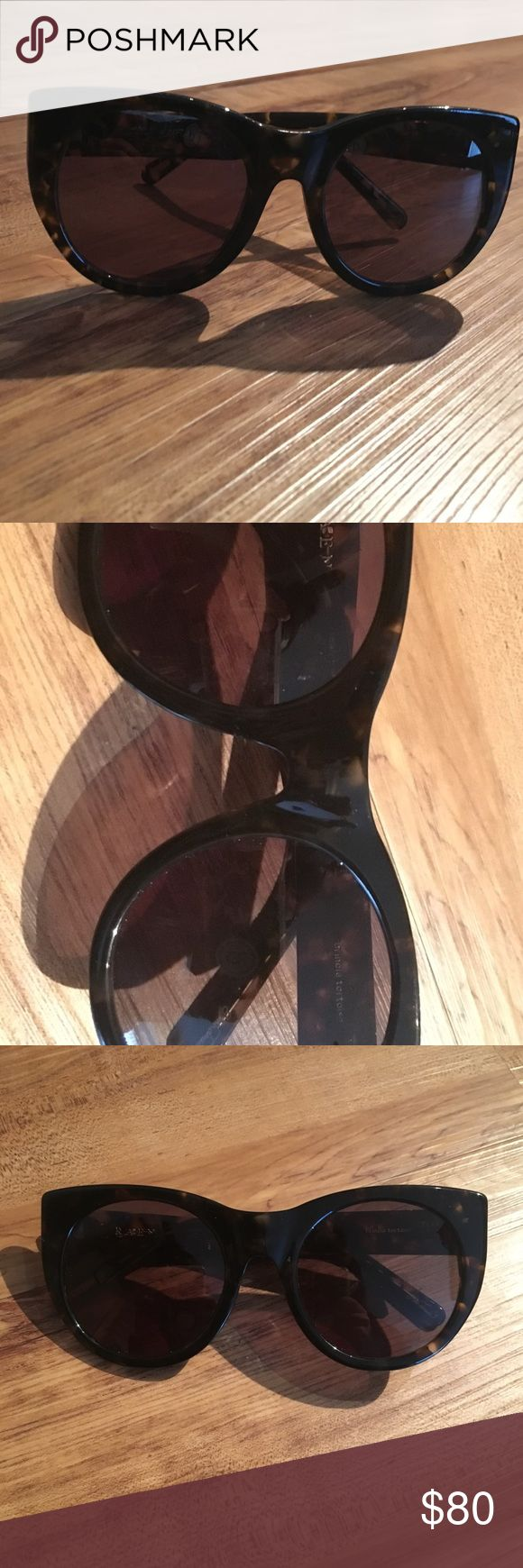 Raen Tortoise Shell Sunglasses Raen Tortoise Shell Glasses. Slight scratched from being next to keys and in my purse. Hardly worn as they are too big for my face, hoping someone can give them the love they deserve :) RAEN Accessories Sunglasses