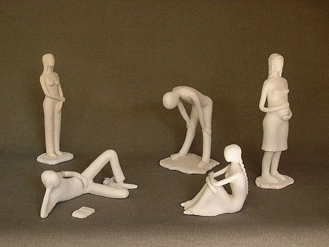 """People"". Stoneware clay."