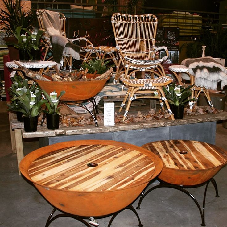 Sika Design Affaire Chairs, Side Table & Footstool, Cast Iron Fire Pits, Staghorn Ferns & Wool/Acrylic Throws!! www.poppysgc.com.au