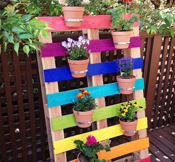 más de 25 ideas únicas sobre jardineras con palets en pinterest