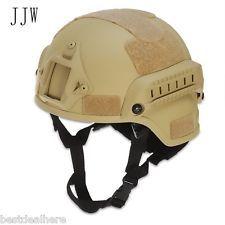 JJW Táctico Casco Airsoft Engranaje Paintball Protector De Cabeza+Noche