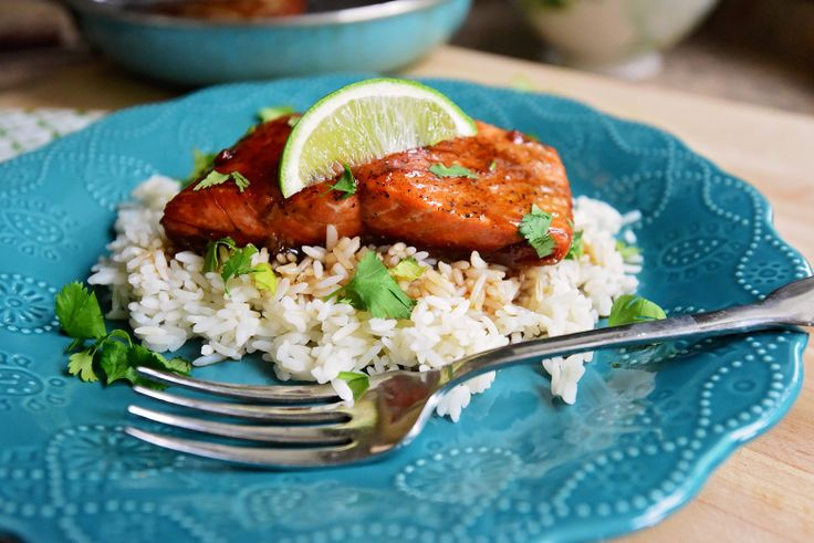 DSC_4646 ~ One more way to get hubby to eat Salmon! Used teriyaki instead of ss as what I had.