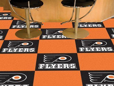 fan mats 10695 philadelphia flyers team carpet tiles by fanmats 18024 theme sports