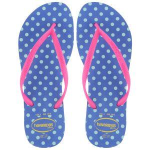 Havaianas Women's Slim Fresh Polka Dot Flip Flops - Blue