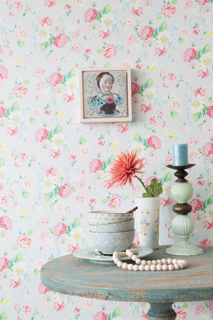 Pink Flower Wallpaper For Bedrooms 17 Best Images About Vintage Wallpaper On Pinterest Manualidades