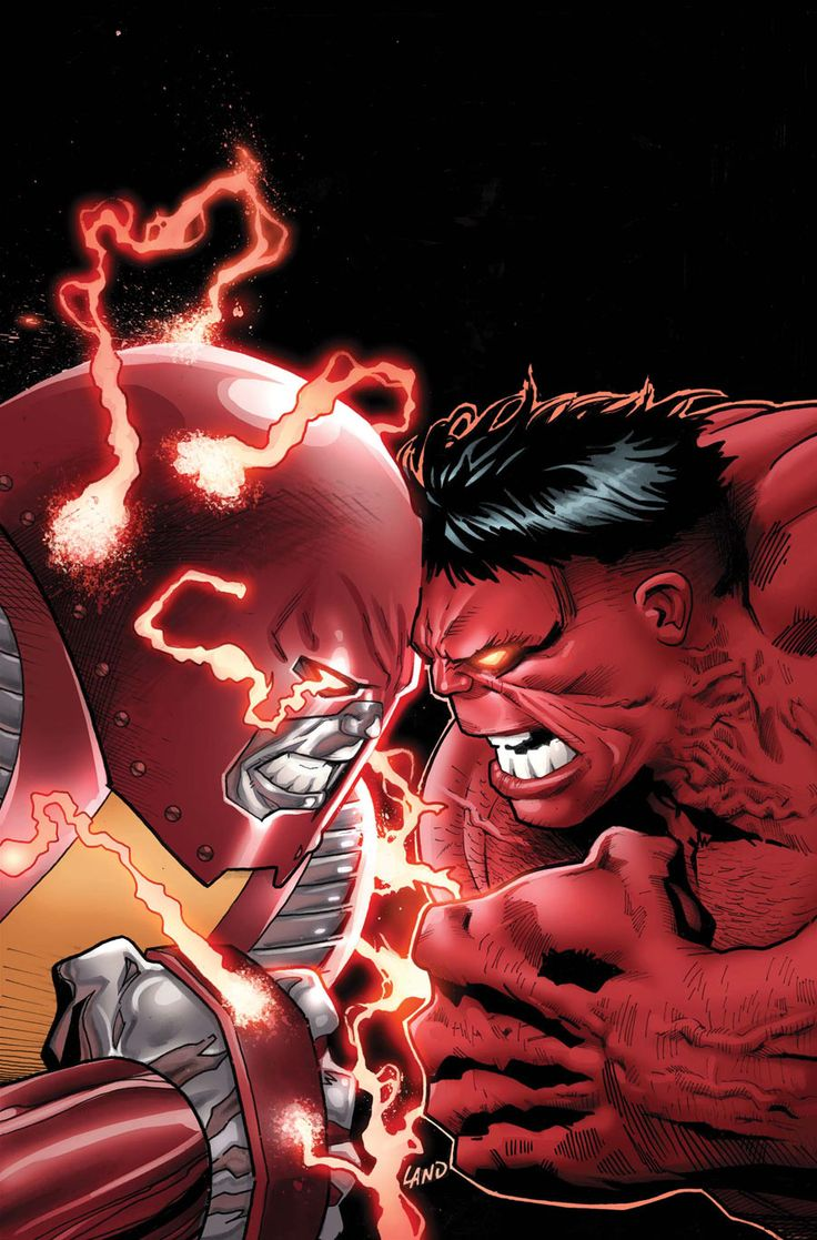 Colossus vs Red Hulk from Avengers Vs. X-Men! Such a crappy story. Colossus always get the short end of the stick