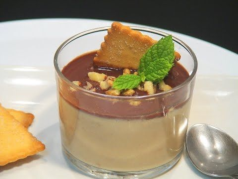 Crema fría de caramelo y galletas con salsa de chocolate y nueces, Receta para Lolioctubre1963 - Petitchef