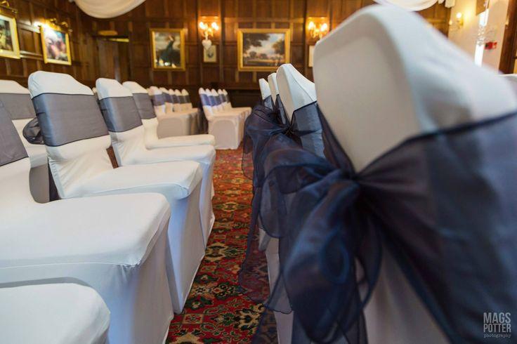Wedding ceremony set up at the Horseshoe Inn  Photo by Karen Austin Decorations