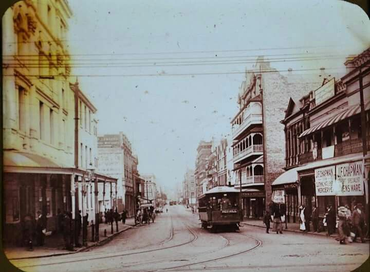 Adelaide Street,Brisbane in the very early 1900s.