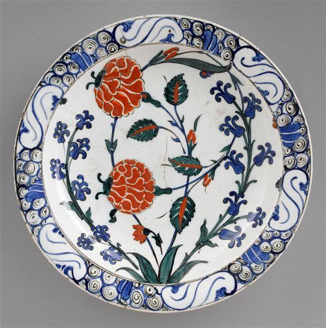 Plat aux tiges de rose et de jacinthe. Photo by René-Gabriel Ojéda. Via Europeana and Ecouen, musée national de la Renaissance.
