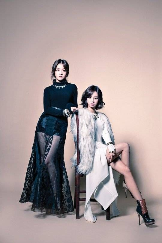 Girl's Day's Minah and Hyeri graced the cover of 'Lady Trend's November issue!The magazin