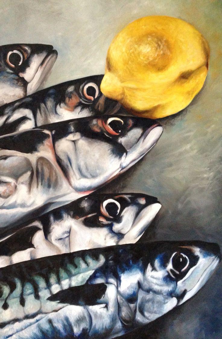 #vissen, olieverf op doek (150x100 cm). #fish #canvas #oilpaint #art #artwork