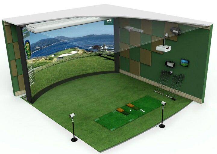 47 best Indoor Golf - Golf Simulator Room images on Pinterest ...